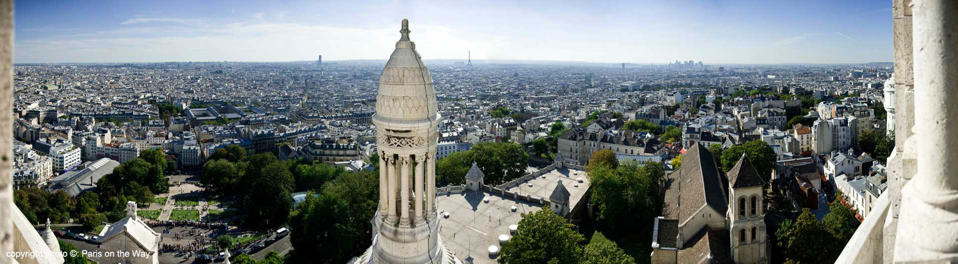 VIEW OF PARIS FROM THE SACRE COEUR BASILICA